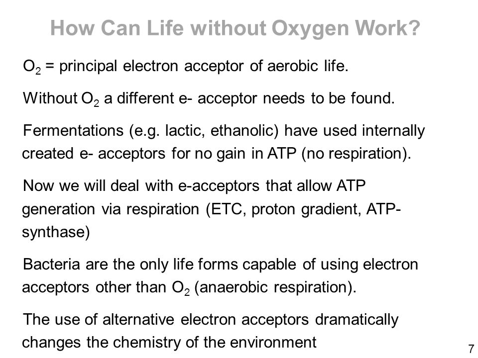 how to live on no oxygen