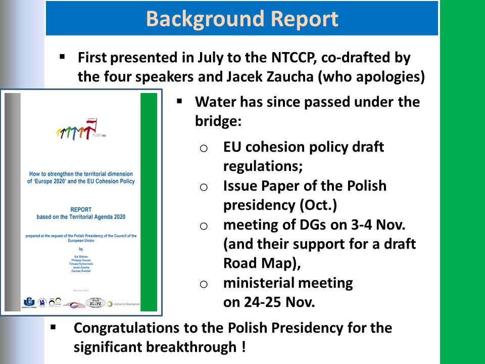 Polish Presidency Background Report – Case Studies By - Ppt Download