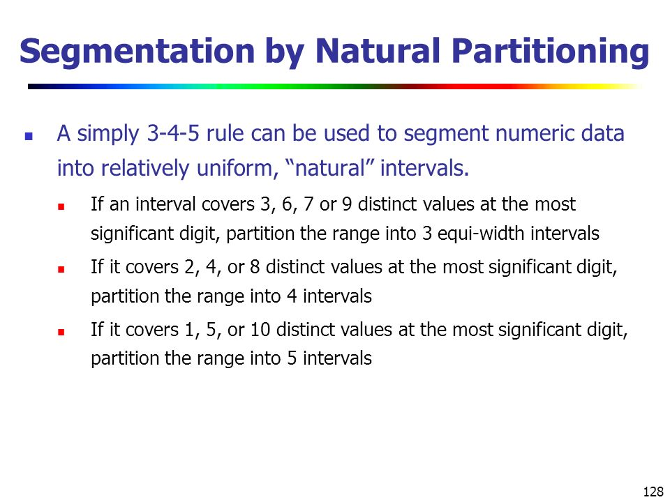 Segmentation by Natural Partitioning