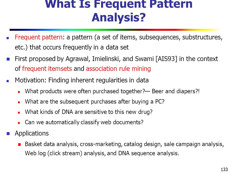 What Is Frequent Pattern Analysis
