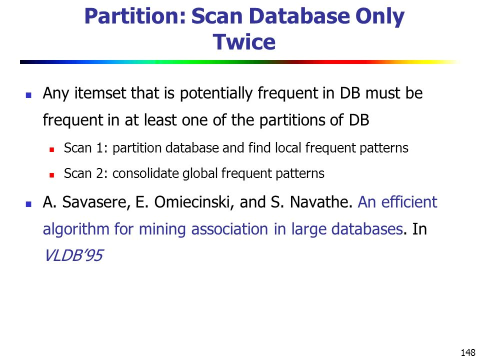 Partition: Scan Database Only Twice