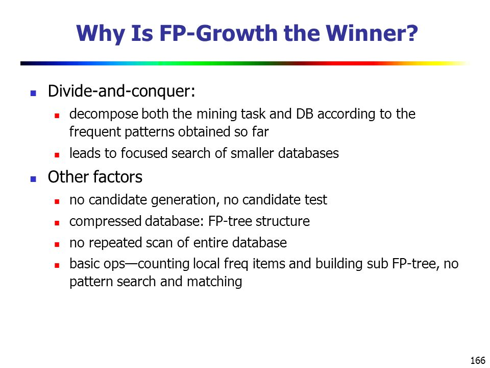 Why Is FP-Growth the Winner