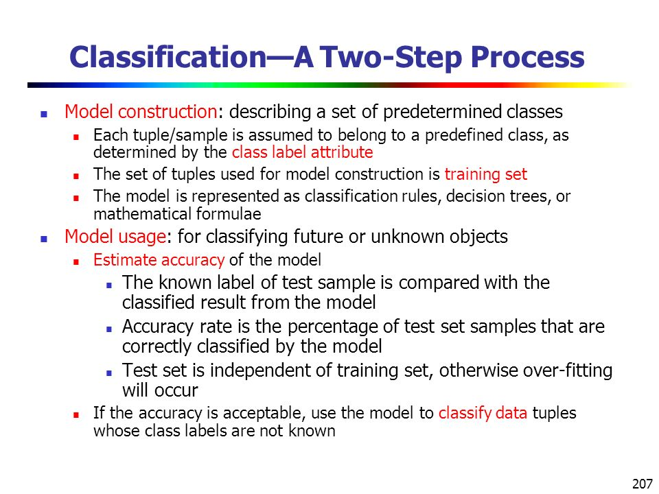 Classification—A Two-Step Process