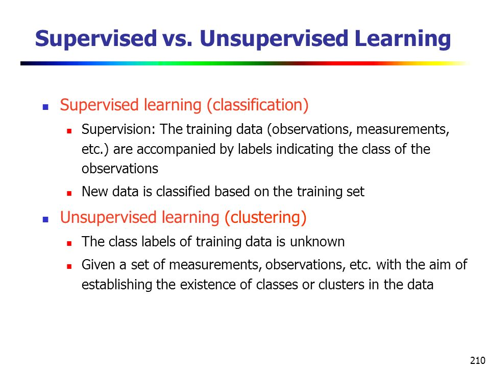 Supervised vs. Unsupervised Learning