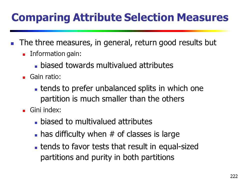 Comparing Attribute Selection Measures