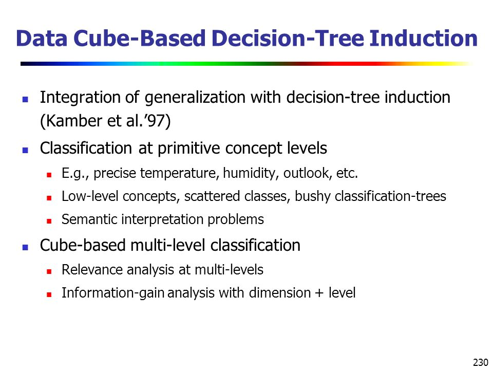 Data Cube-Based Decision-Tree Induction