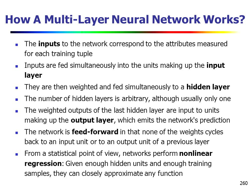 How A Multi-Layer Neural Network Works