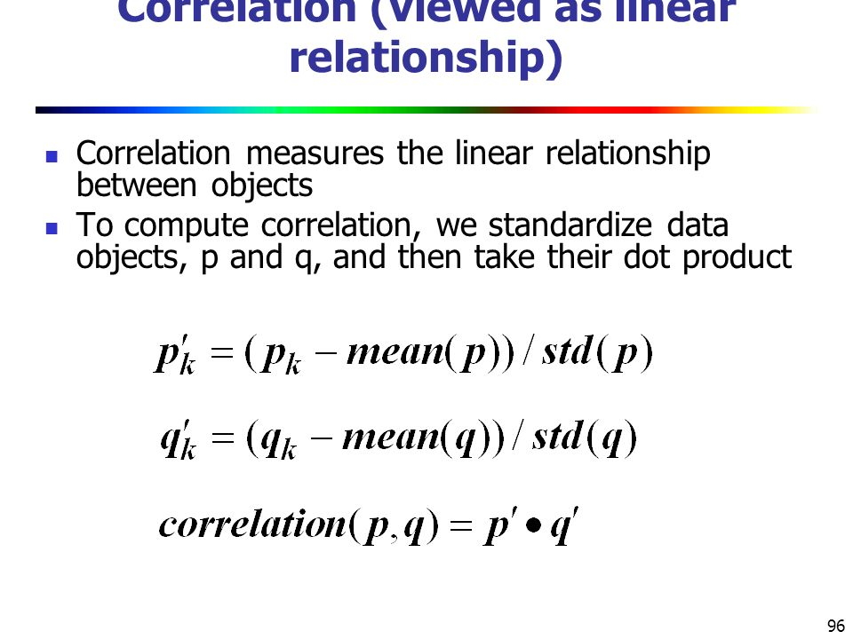 Correlation (viewed as linear relationship)