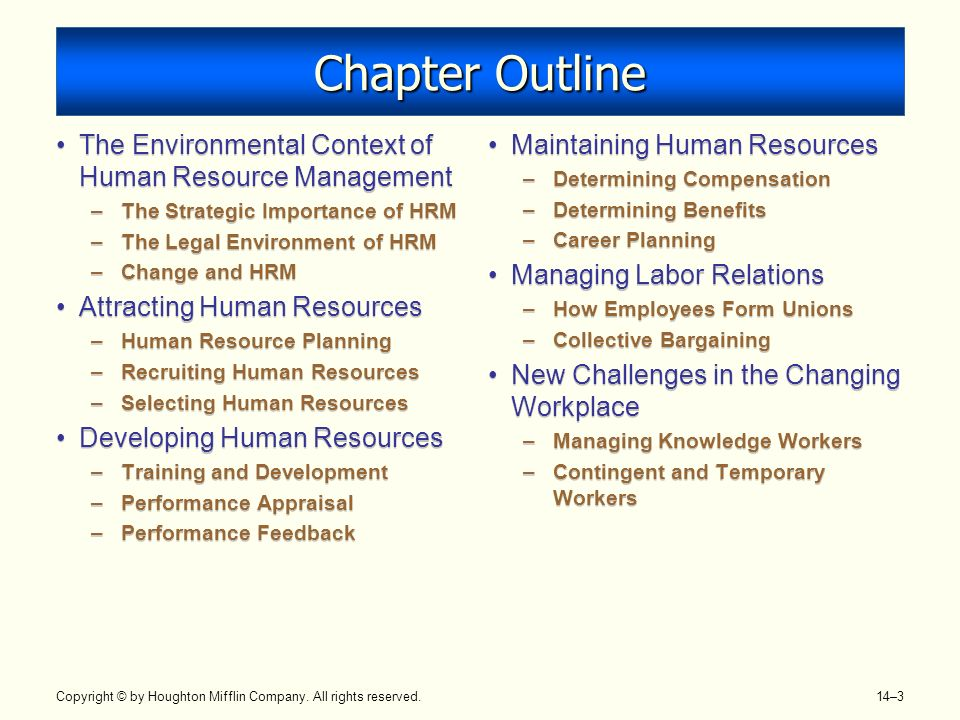 legal aspects of human resources outline The legal aspects of managing people at all levels of business and nonprofit  organizations come into play in a wide variety of human  a major in law with a  minor in human resource management is a natural fit  summary of  requirements.