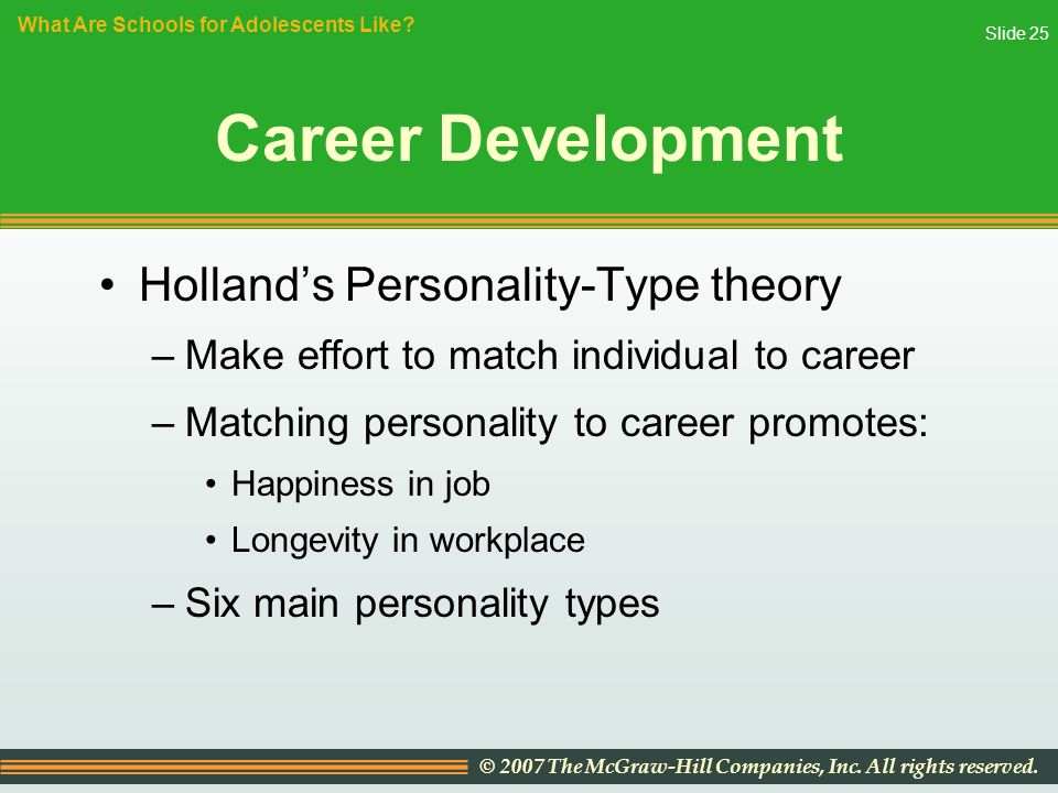 career personality development program Think strategically about your career  we have to take control of our career planning to ensure  taking time to think about your career development is.