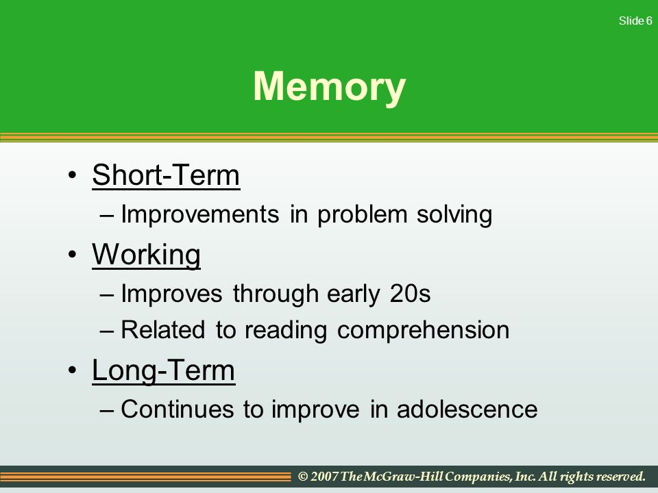 how can memory be improved by