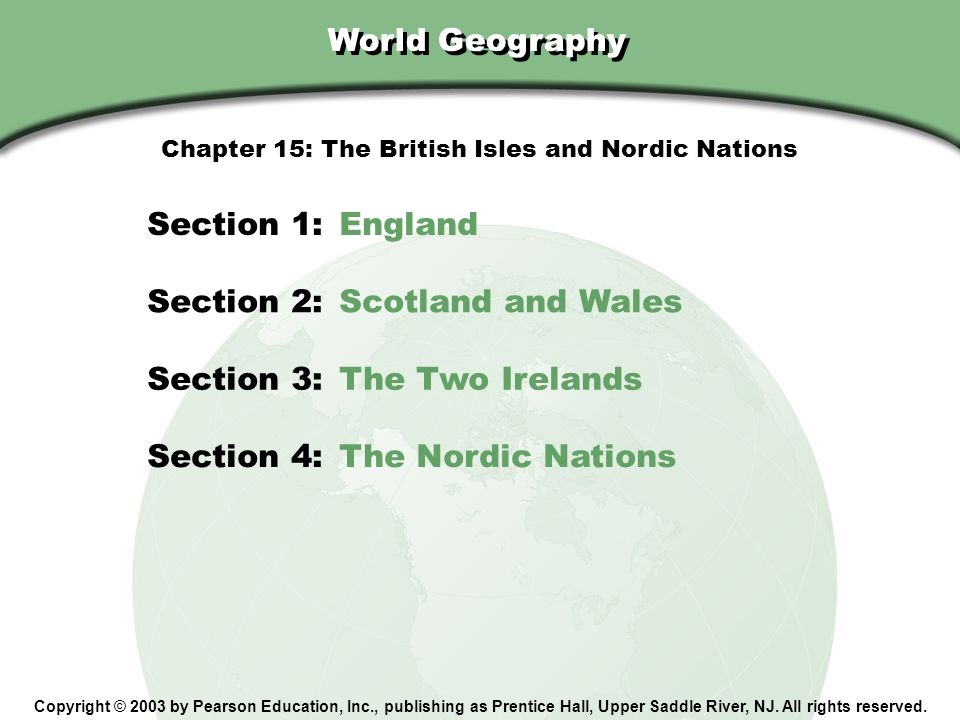 The British Isles and Nordic Nations Chapter 15 World Geography