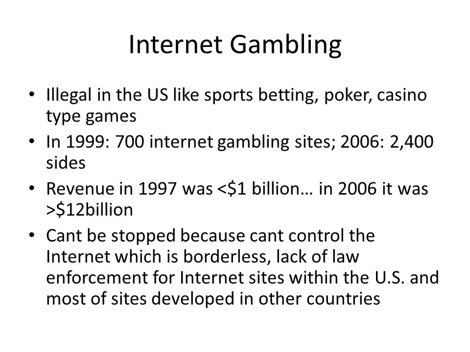 Gambling in other countries