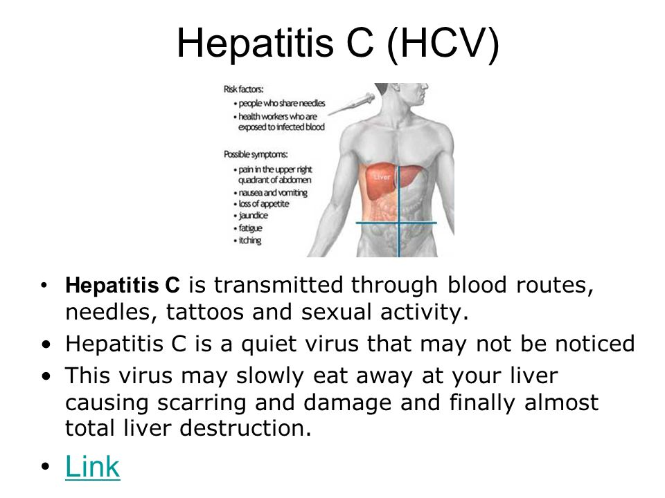 Hepatitis c and sexual activity