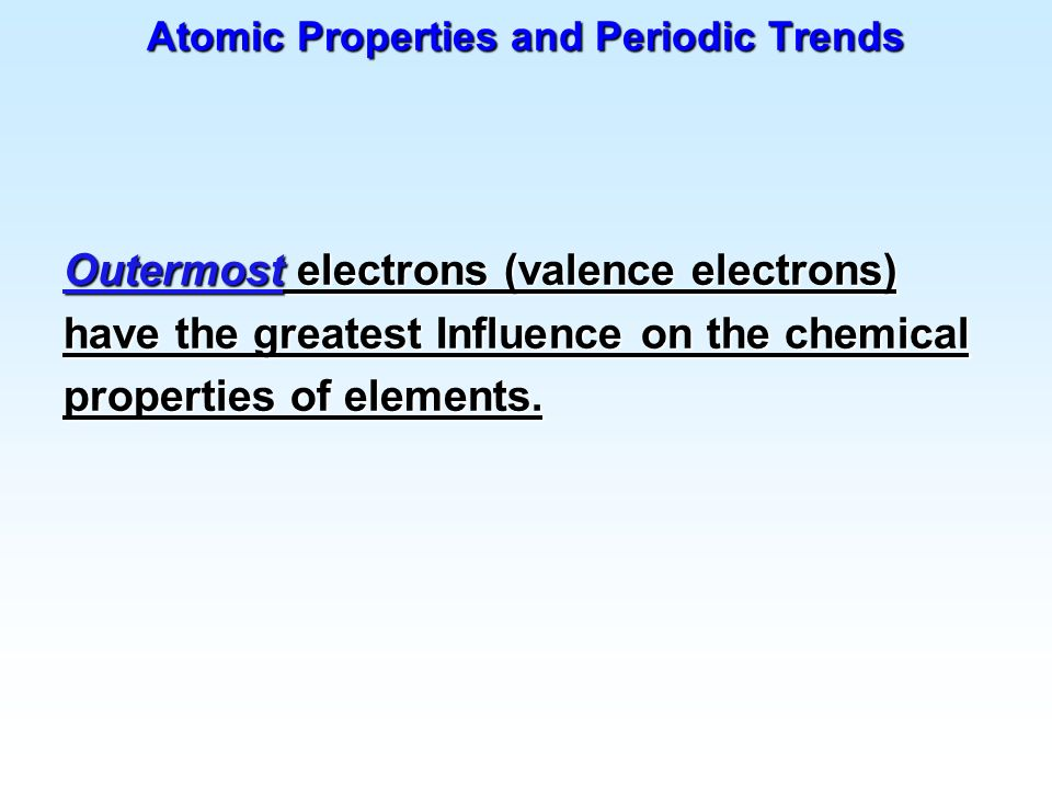 Atomic Properties and Periodic Trends