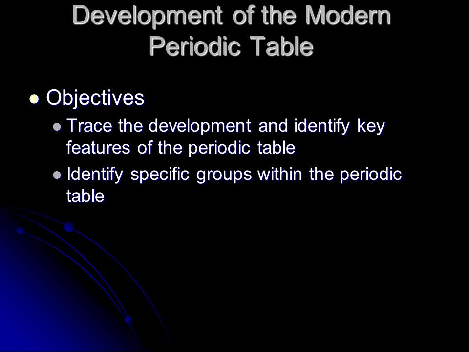 The periodic table of elements ppt download development of the modern periodic table urtaz Gallery