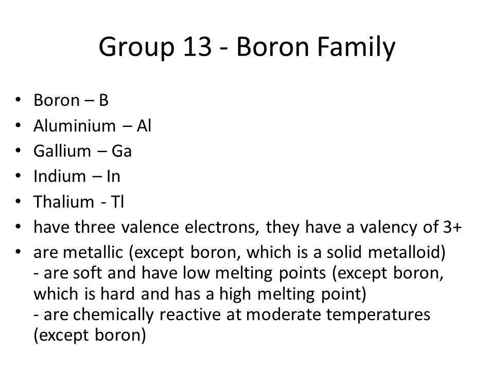 Boron group  Wikipedia