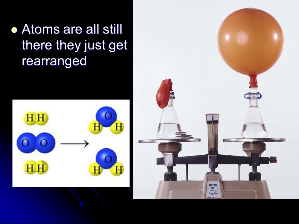 Atoms are all still there they just get rearranged
