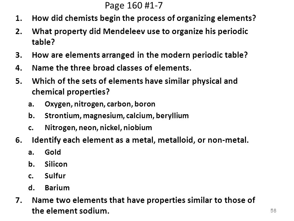 Periodic Table physical properties of elements on the periodic table luster : Chapter 6 The Periodic Table. - ppt download