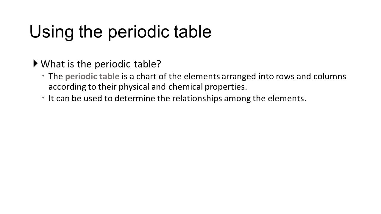 The modern periodic table is arranged according to images elements in periodic table are arranged according to their image the periodic table ppt download using gamestrikefo Images