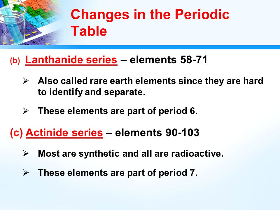 History of the periodic table ppt video online download changes in the periodic table urtaz Image collections
