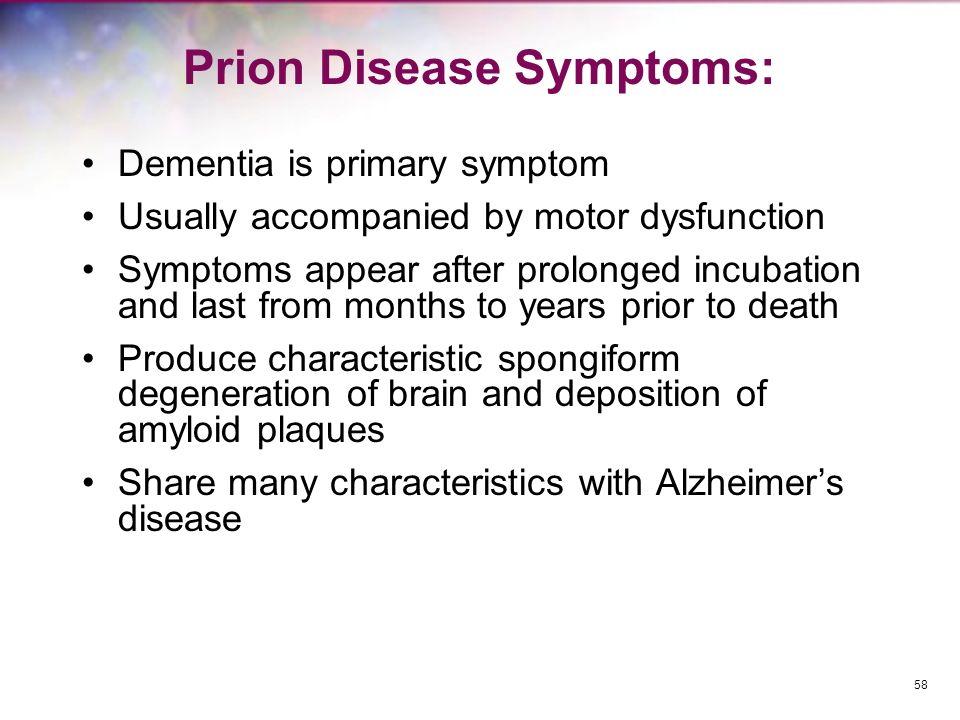 Prion Disease Symptoms:
