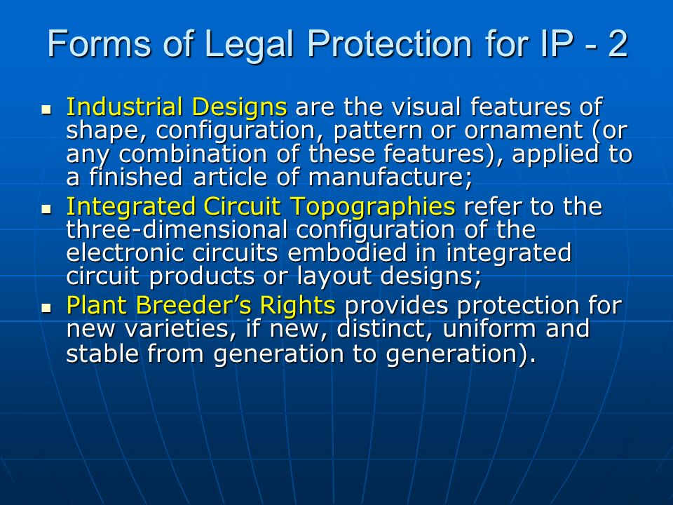 Forms of Legal Protection for IP - 2