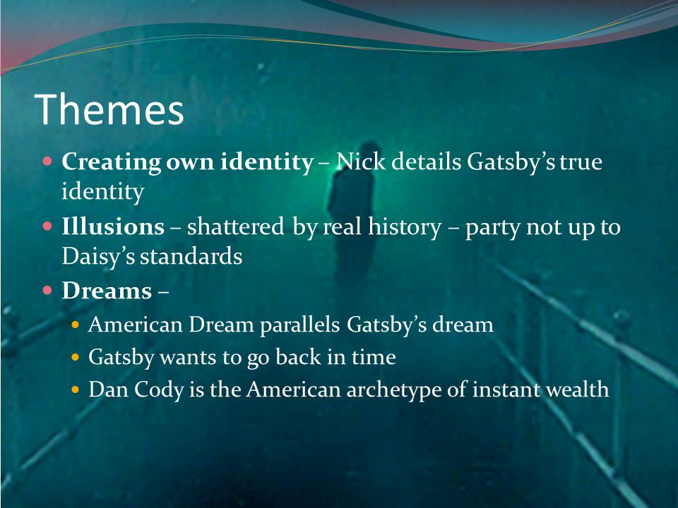 gatsbys true identity Jay gatsby, the main character of the novel the great gatsby written by f scott fitzgerald, is described as a man who throws grand parties, however not many individuals know who jay gatsby true identity is and only know gatsby by what his party guest seem to speculate about who jay gatsby actually is, which makes gatsby seem as a mysterious.