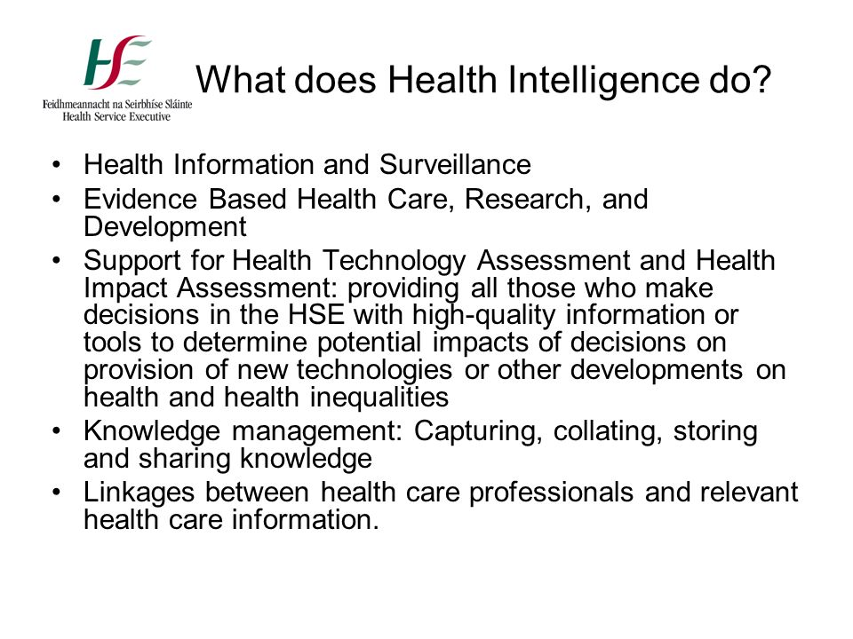 evolution of health care information History of health information technology in department of health care organization and policy governor's health information infrastructure advisory.