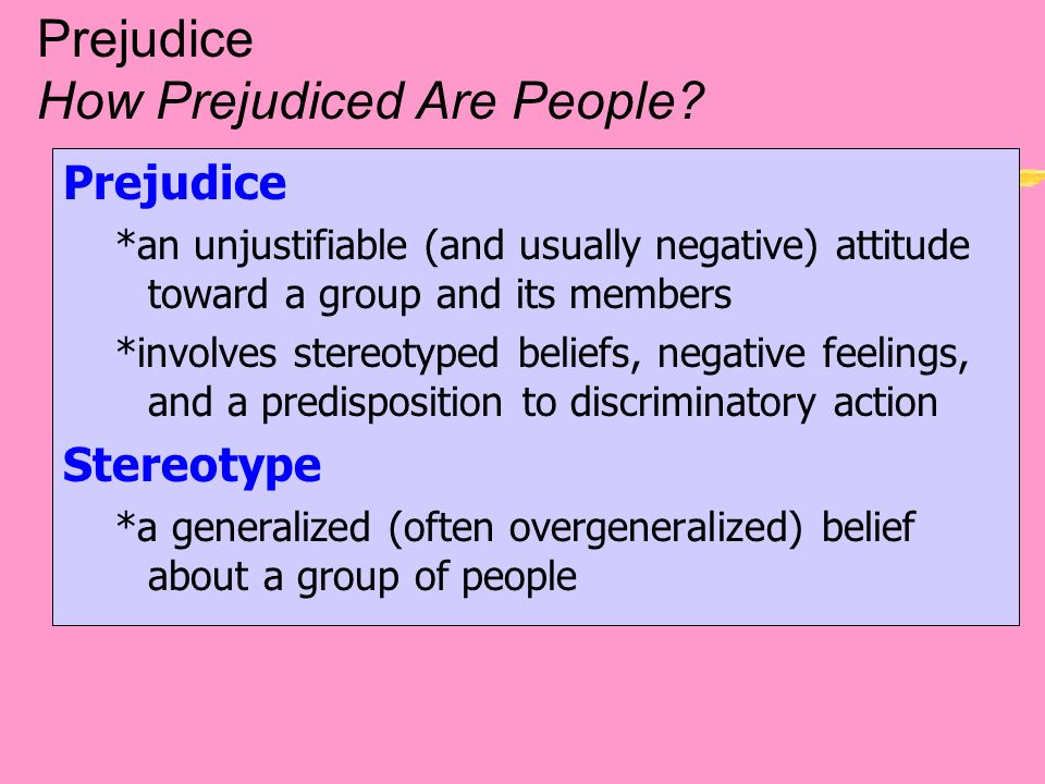 prejudicial thoughts and beliefs essay How do children learn prejudice  immune to forming prejudicial stereotypes or discriminating against others (1995, 6) as dr byrnes.