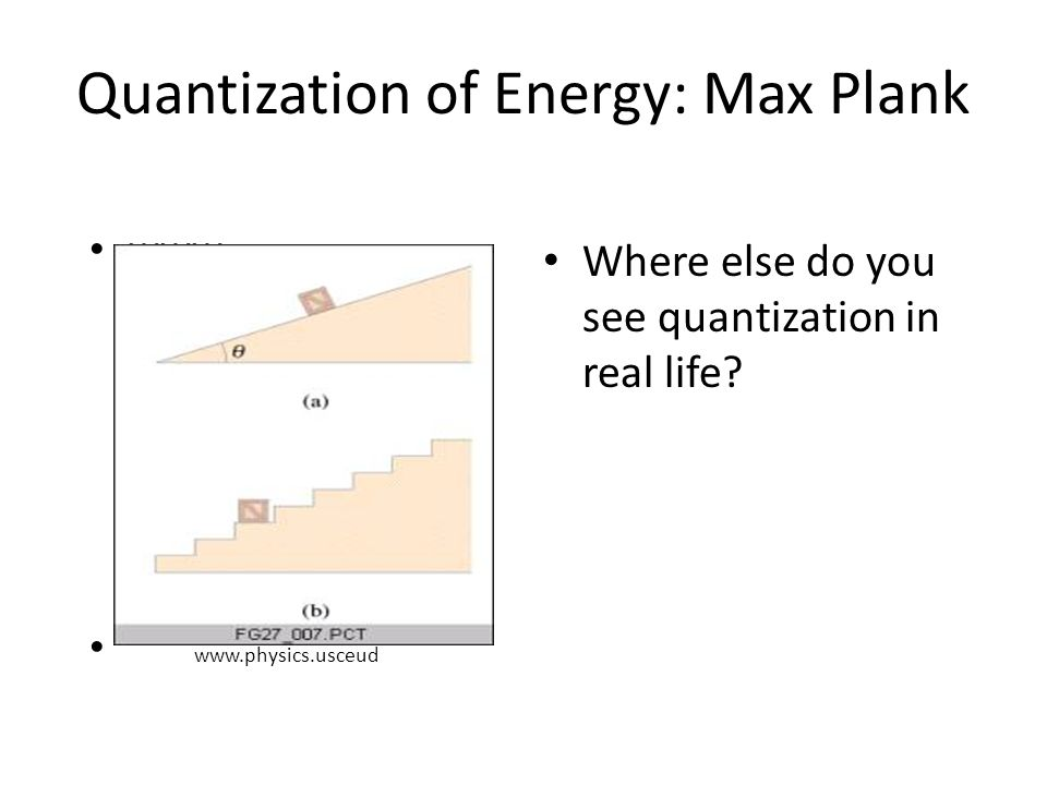 Quantization of Energy: Max Plank