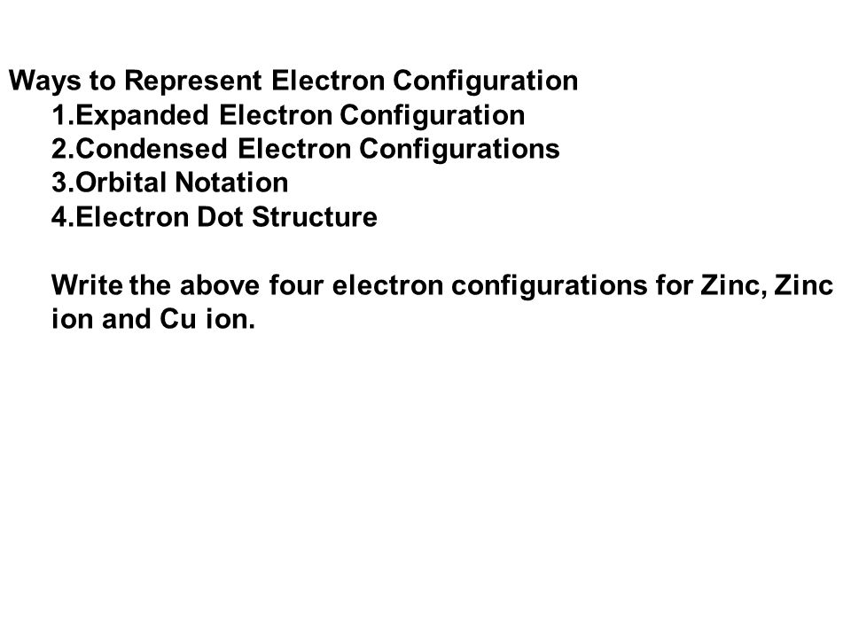 Ways to Represent Electron Configuration