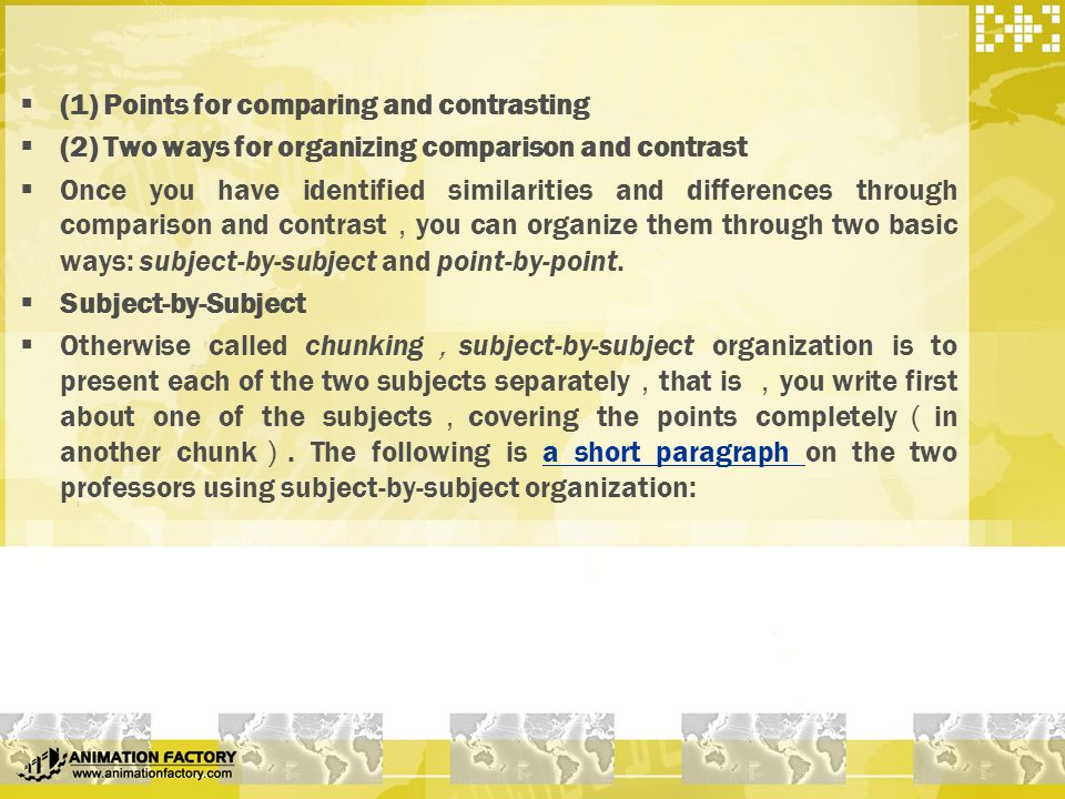 one way to organize a comparison-and-contrast essay is Get an answer for 'compare and contrast emily dickinson and walt whitman' and find homework help  who are you,  other points of comparison and contrast.