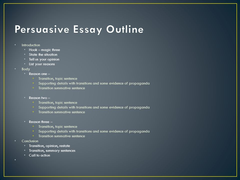 persuasive essay supporting evidence Thesis, even if they do so in different words, then your essay is probably repetitive  insert/drop-in your supporting evidence (often quotes but again, evidence.