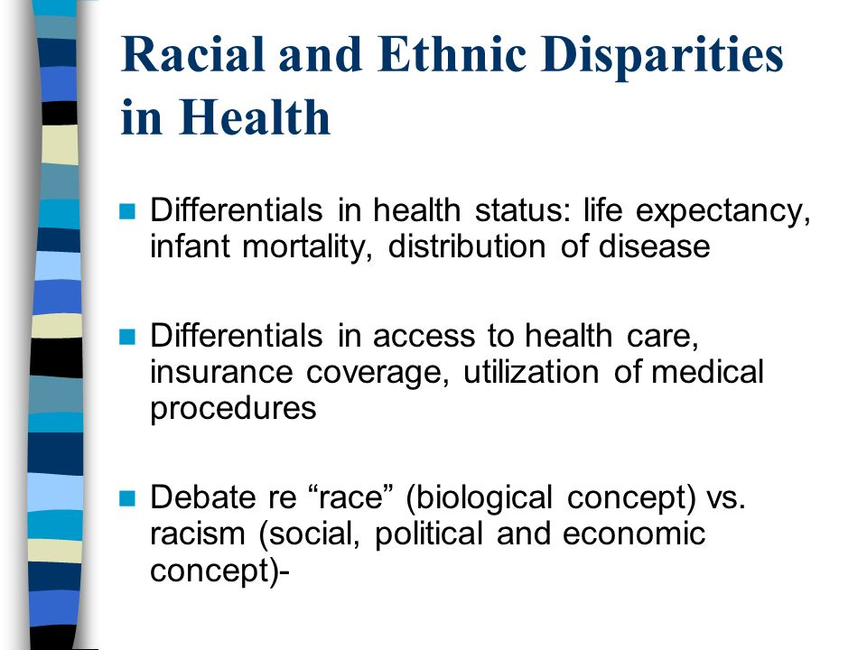 racial disparity The center for medicare advocacy, is a national nonprofit, nonpartisan law organization that provides education, advocacy and legal assistance to help older people and people with disabilities obtain fair access to medicare and quality health care.