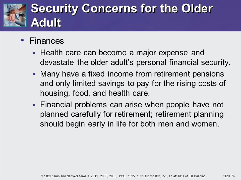 finance concerns for adults