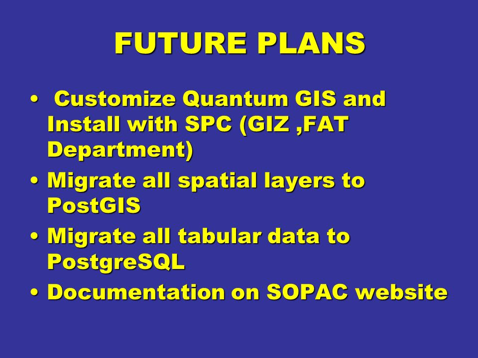 Customised qgis for forest change detection ppt video for Future planner online