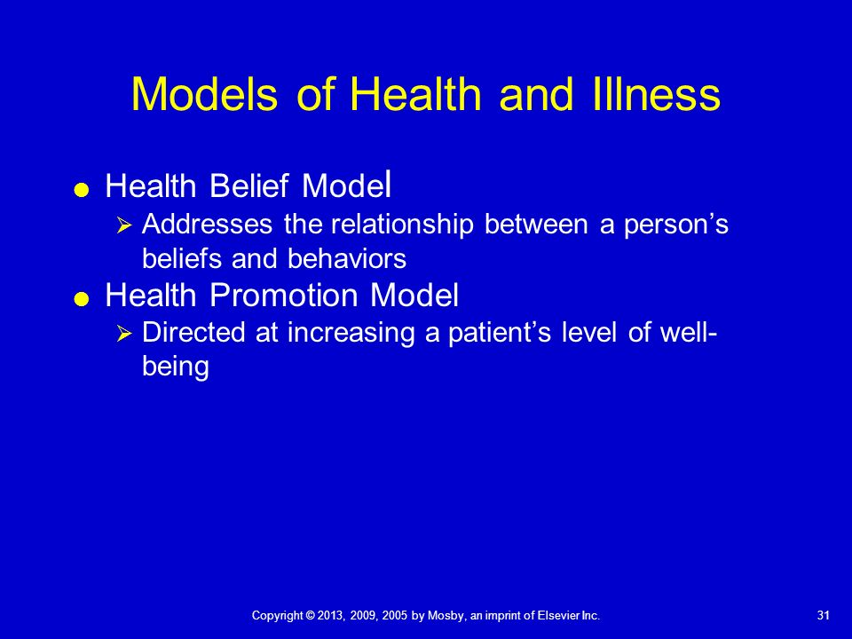evidence based practice and the health belief model Nola pender's health promotion model of nursing  evidence-based nursing methods of  which can derail intended actions for promoting health the health.