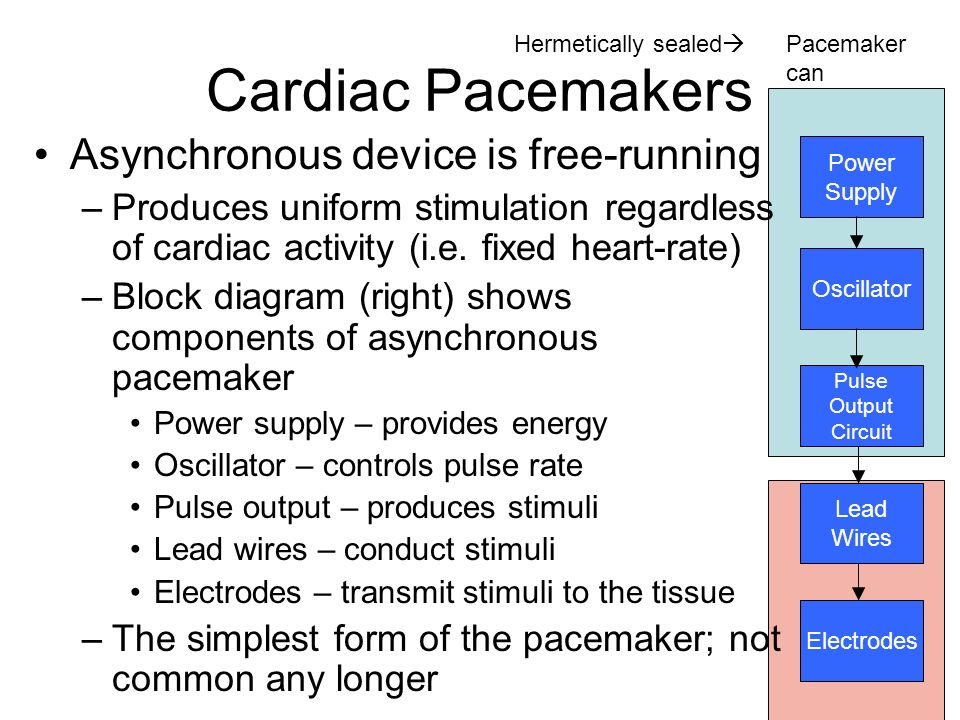 Cardiac+Pacemakers+Asynchronous+device+is+free running lecture 5 cardioverter& pacemakers ppt download