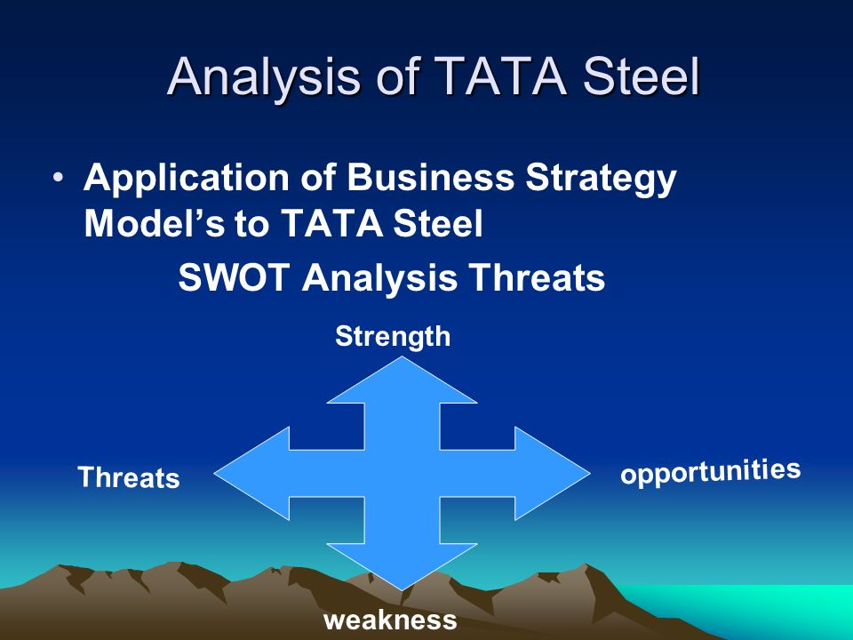 tata steel marketing strategy When ratan tata handed over the reins of the tata group, india's largest conglomerate by sales with operations from steel to software, he sought to reassure his successor i think cyrus.