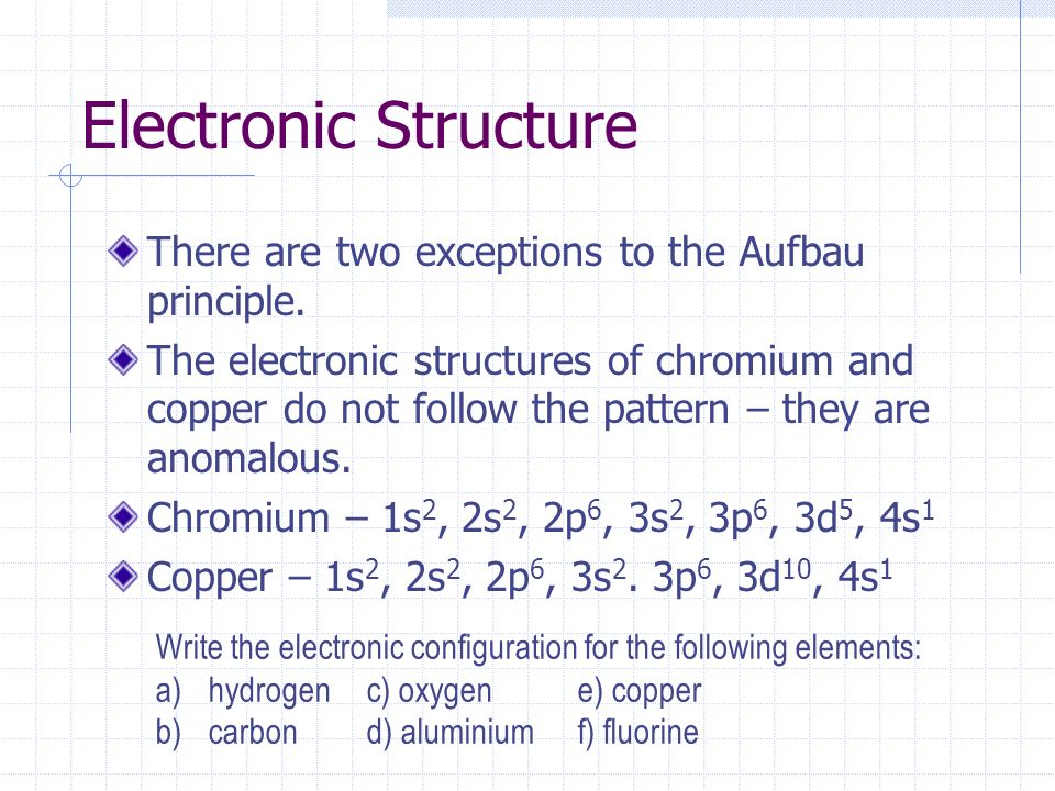 ib chemistry atomic theory - ppt download aufbau diagram copper #4