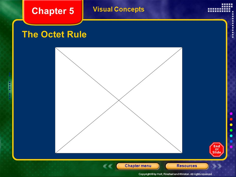 Chapter 5 Visual Concepts The Octet Rule