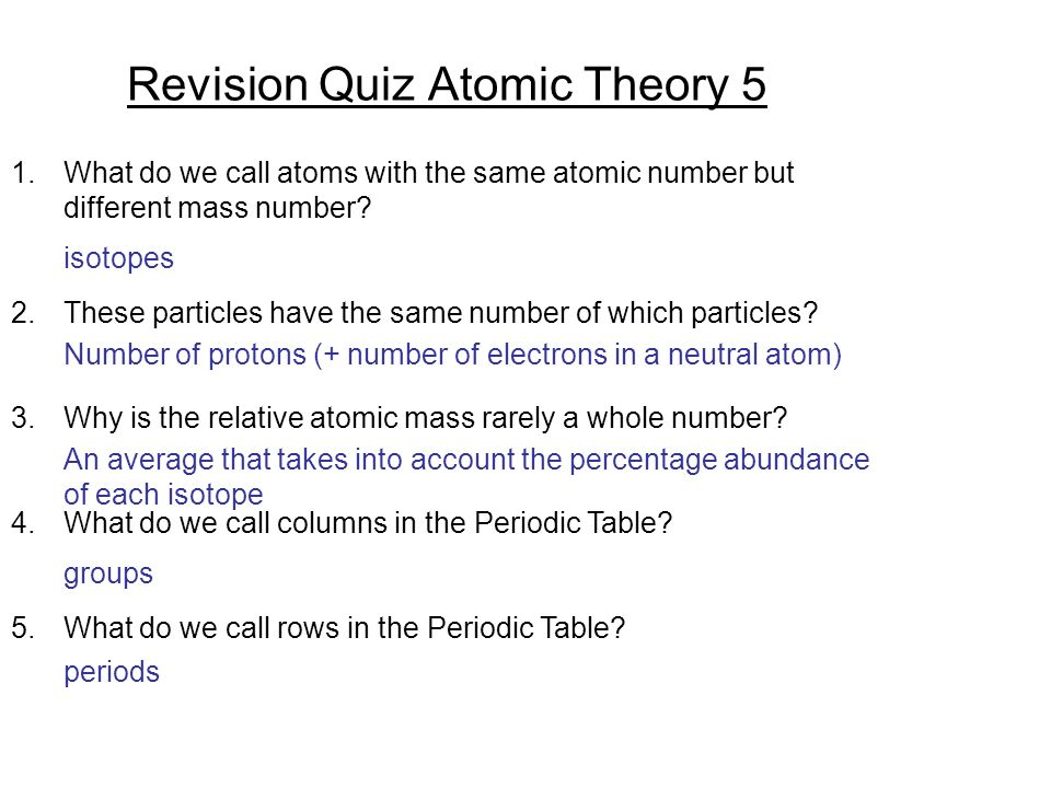 Revision quiz atomic theory 1 ppt video online download revision quiz atomic theory 5 urtaz Images