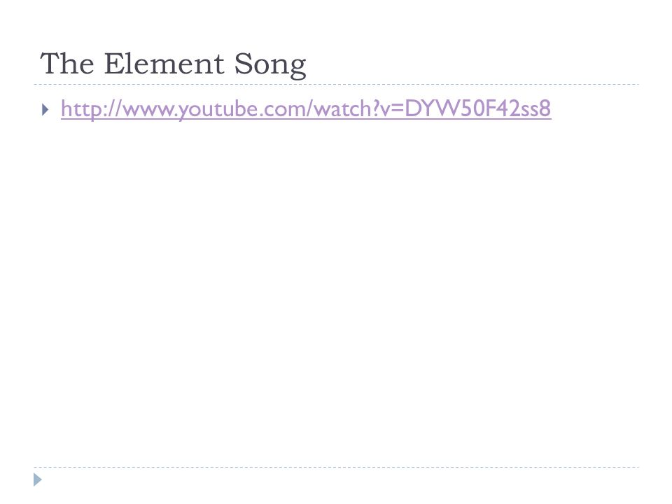 The Element Song   v=DYW50F42ss8
