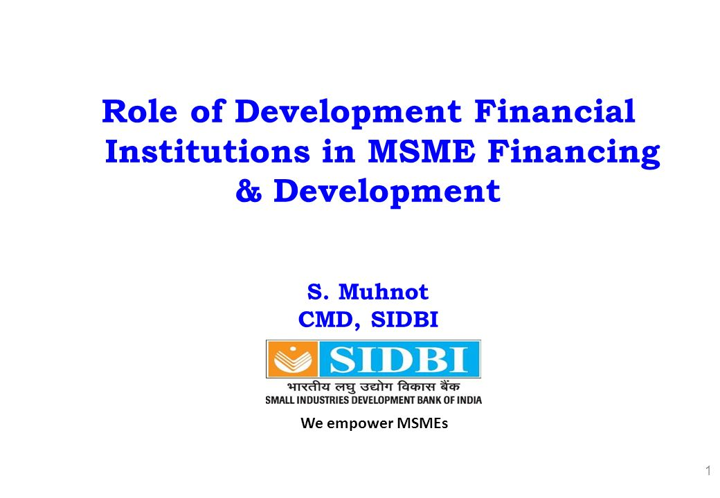 what is the role of institutions Thus the role of idbi may be stated as under:• as an apex financial institution, it coordinates the working of other financial institutions• (2) it assists in the development of other financial institutions•.
