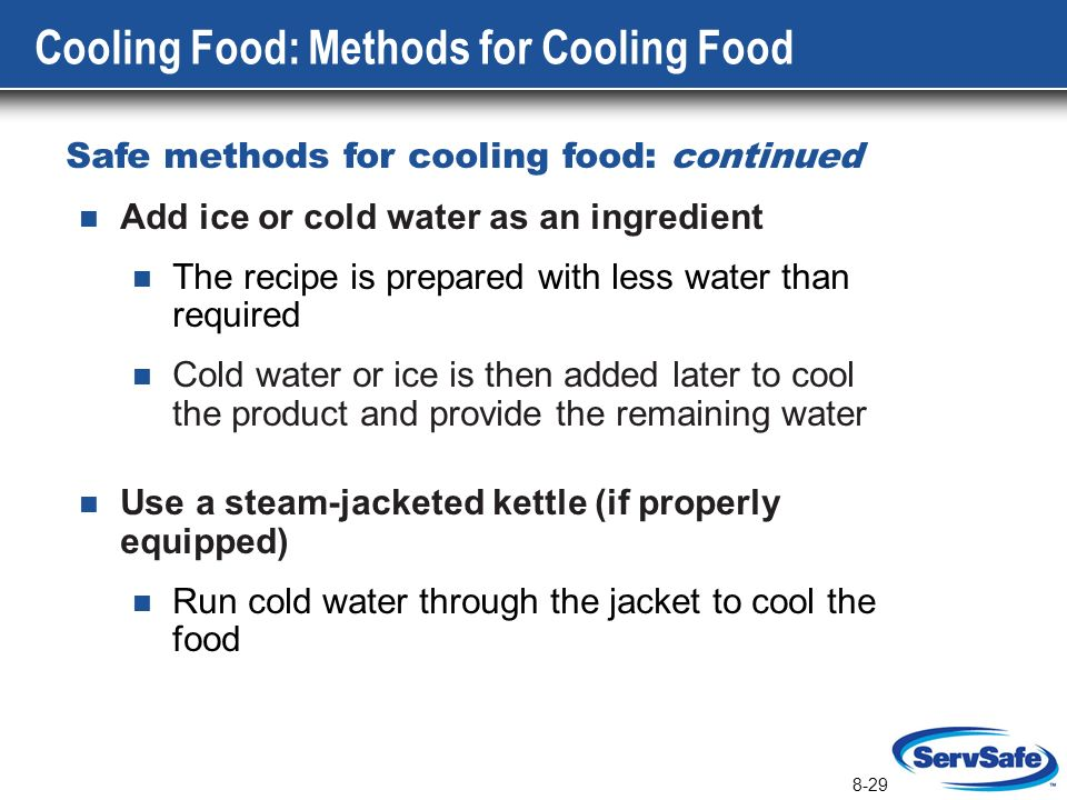 Cooling Food Properly : The flow of food preparation ppt download