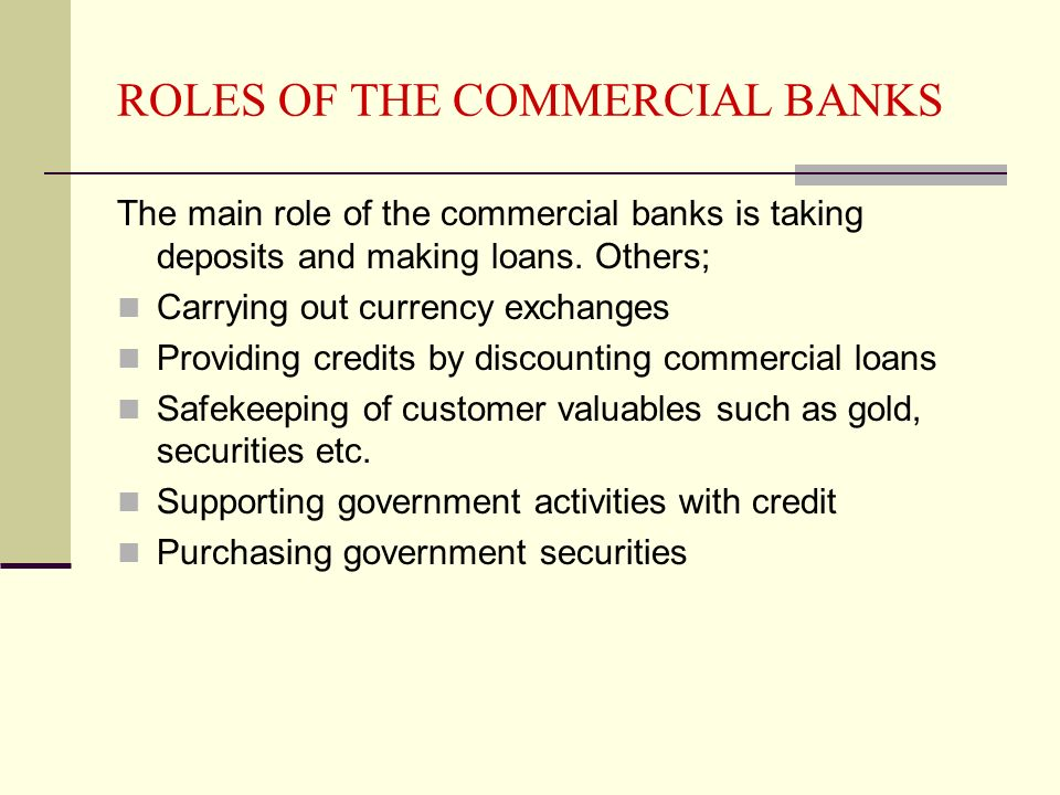 COMMERCIAL BANKS, INSURANCE COMPANIES, FINANCE HOUSES AND ...