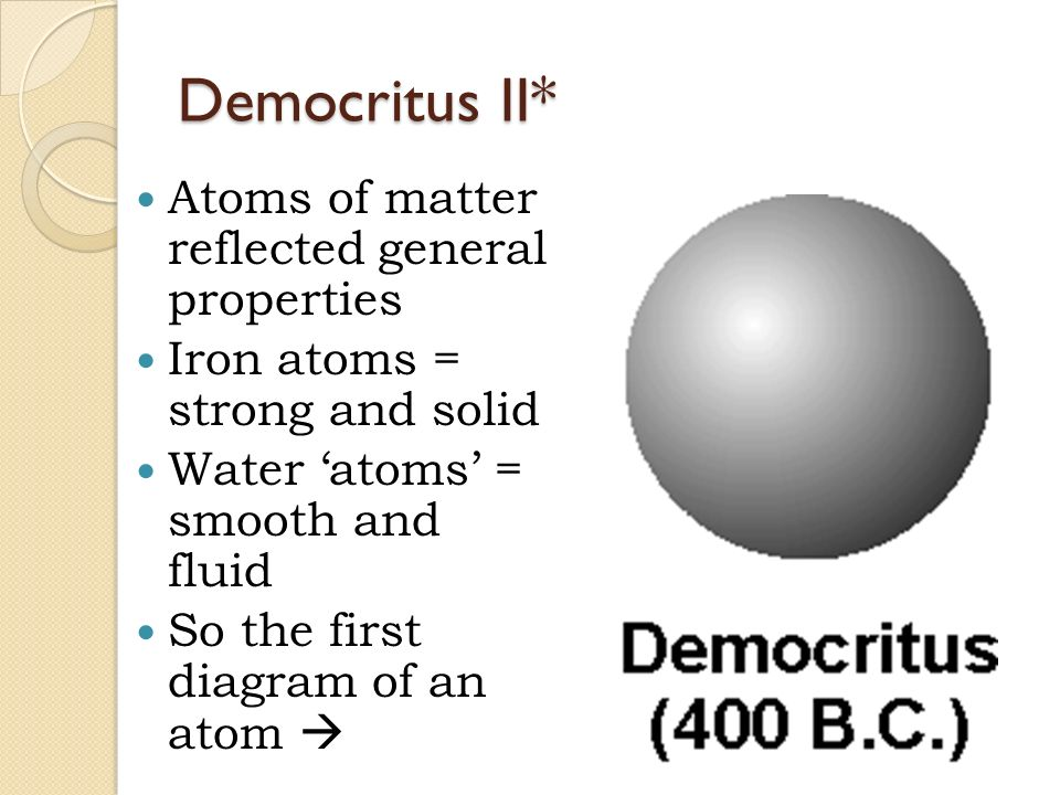 Unit 3 atomic structure ppt video online download 14 democritus ii atoms ccuart