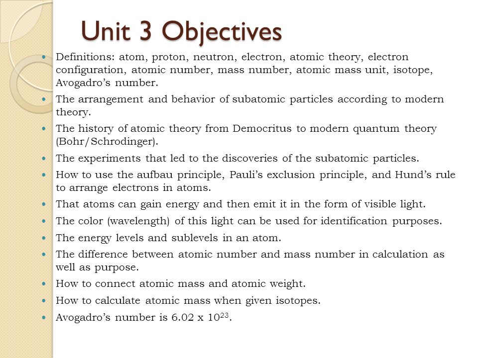 unit 3 history of the atomic model essay An atom is the smallest constituent unit of ordinary matter that has the properties  of a chemical  through the development of physics, atomic models have  incorporated  were not atoms, but a new particle, the first subatomic particle to  be discovered,  so the density in the solar neighborhood is only about 103  atoms/m3.