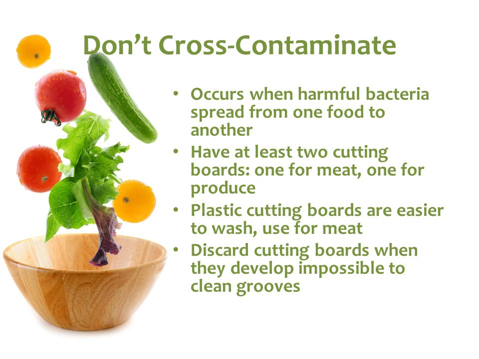 Don't Cross-Contaminate